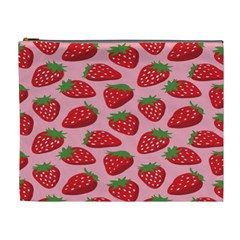 Fruit Strawbery Red Sweet Fres Cosmetic Bag (xl) by Alisyart