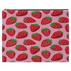 Fruit Strawbery Red Sweet Fres Cosmetic Bag (xxxl)  by Alisyart