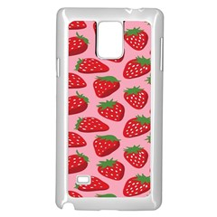 Fruit Strawbery Red Sweet Fres Samsung Galaxy Note 4 Case (white) by Alisyart