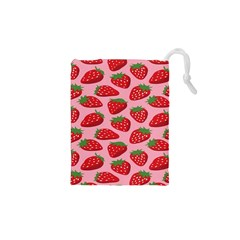 Fruit Strawbery Red Sweet Fres Drawstring Pouches (xs)  by Alisyart