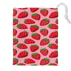 Fruit Strawbery Red Sweet Fres Drawstring Pouches (xxl) by Alisyart
