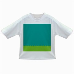 Green Blue Teal Scallop Wallpaper Wave Infant/toddler T Shirts by Alisyart