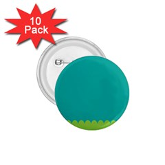Green Blue Teal Scallop Wallpaper Wave 1 75  Buttons (10 Pack) by Alisyart