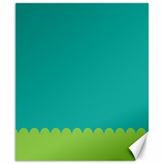Green Blue Teal Scallop Wallpaper Wave Canvas 8  X 10  by Alisyart