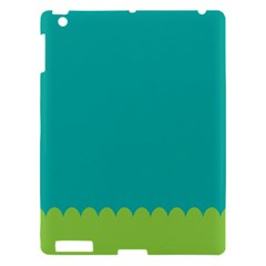 Green Blue Teal Scallop Wallpaper Wave Apple Ipad 3/4 Hardshell Case by Alisyart