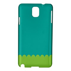 Green Blue Teal Scallop Wallpaper Wave Samsung Galaxy Note 3 N9005 Hardshell Case