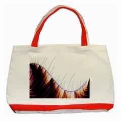 Abstract Lines Classic Tote Bag (red) by Simbadda