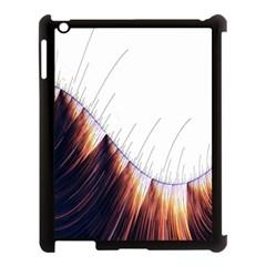 Abstract Lines Apple Ipad 3/4 Case (black) by Simbadda