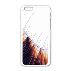 Abstract Lines Apple Iphone 6/6s White Enamel Case by Simbadda