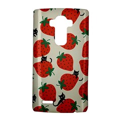 Fruit Strawberry Red Black Cat Lg G4 Hardshell Case by Alisyart