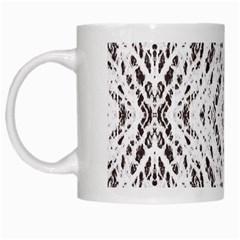 Pattern Monochrome Terrazzo White Mugs by Simbadda