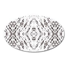 Pattern Monochrome Terrazzo Oval Magnet by Simbadda