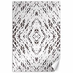 Pattern Monochrome Terrazzo Canvas 20  X 30   by Simbadda