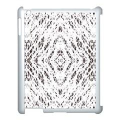 Pattern Monochrome Terrazzo Apple Ipad 3/4 Case (white) by Simbadda