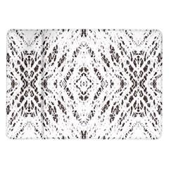 Pattern Monochrome Terrazzo Samsung Galaxy Tab 10 1  P7500 Flip Case by Simbadda