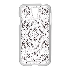 Pattern Monochrome Terrazzo Samsung Galaxy S4 I9500/ I9505 Case (white) by Simbadda