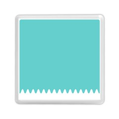 Grey Wave Water Waves Blue White Memory Card Reader (square)  by Alisyart