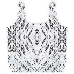 Pattern Monochrome Terrazzo Full Print Recycle Bags (l)  by Simbadda