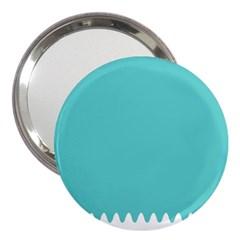 Grey Wave Water Waves Blue White 3  Handbag Mirrors by Alisyart