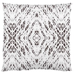 Pattern Monochrome Terrazzo Standard Flano Cushion Case (One Side) by Simbadda