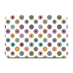 Flowers Color Artwork Vintage Modern Star Lotus Sunflower Floral Rainbow Plate Mats by Alisyart