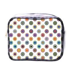 Flowers Color Artwork Vintage Modern Star Lotus Sunflower Floral Rainbow Mini Toiletries Bags by Alisyart