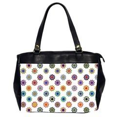 Flowers Color Artwork Vintage Modern Star Lotus Sunflower Floral Rainbow Office Handbags (2 Sides)  by Alisyart