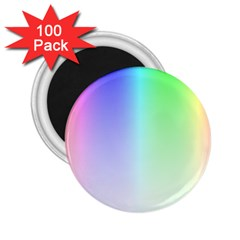 Layer Light Rays Rainbow Pink Purple Green Blue 2 25  Magnets (100 Pack)  by Alisyart