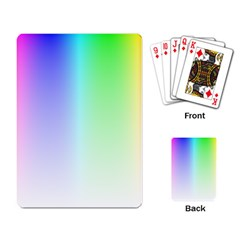 Layer Light Rays Rainbow Pink Purple Green Blue Playing Card by Alisyart