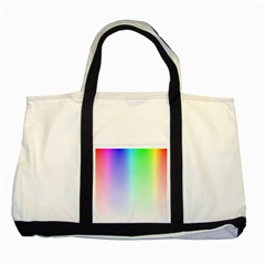 Layer Light Rays Rainbow Pink Purple Green Blue Two Tone Tote Bag by Alisyart