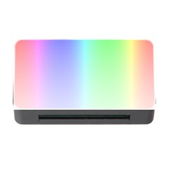 Layer Light Rays Rainbow Pink Purple Green Blue Memory Card Reader With Cf by Alisyart