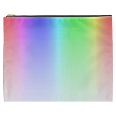 Layer Light Rays Rainbow Pink Purple Green Blue Cosmetic Bag (xxxl)  by Alisyart