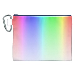 Layer Light Rays Rainbow Pink Purple Green Blue Canvas Cosmetic Bag (xxl) by Alisyart