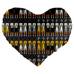 Football Uniforms Team Clup Sport Large 19  Premium Heart Shape Cushions by Alisyart