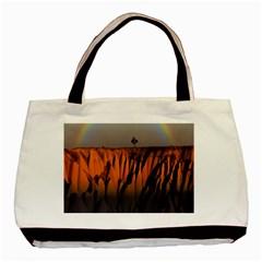 Rainbows Landscape Nature Basic Tote Bag by Simbadda