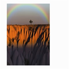 Rainbows Landscape Nature Small Garden Flag (two Sides) by Simbadda