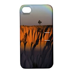 Rainbows Landscape Nature Apple Iphone 4/4s Hardshell Case With Stand by Simbadda