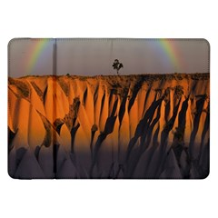 Rainbows Landscape Nature Samsung Galaxy Tab 8 9  P7300 Flip Case by Simbadda