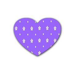 Light Purple Flowers Background Images Rubber Coaster (heart)  by Alisyart