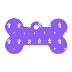 Light Purple Flowers Background Images Dog Tag Bone (one Side) by Alisyart