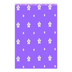 Light Purple Flowers Background Images Shower Curtain 48  X 72  (small)  by Alisyart