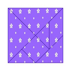 Light Purple Flowers Background Images Acrylic Tangram Puzzle (6  X 6 ) by Alisyart