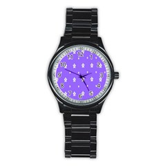 Light Purple Flowers Background Images Stainless Steel Round Watch by Alisyart