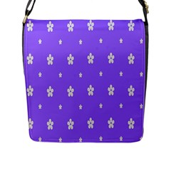 Light Purple Flowers Background Images Flap Messenger Bag (l)  by Alisyart