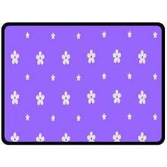 Light Purple Flowers Background Images Double Sided Fleece Blanket (large)  by Alisyart