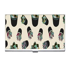 Succulent Plants Pattern Lights Business Card Holders by Simbadda