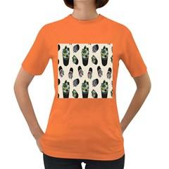 Succulent Plants Pattern Lights Women s Dark T Shirt