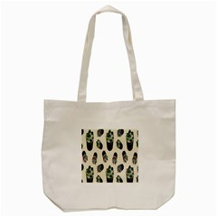 Succulent Plants Pattern Lights Tote Bag (cream) by Simbadda