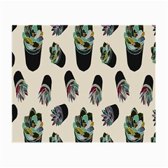 Succulent Plants Pattern Lights Small Glasses Cloth by Simbadda