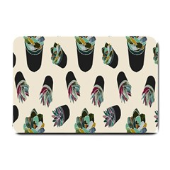 Succulent Plants Pattern Lights Small Doormat  by Simbadda